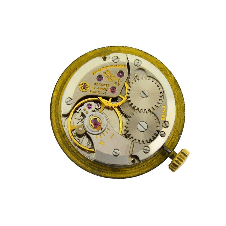 Cartier by Bueche Girod Yellow Gold Enamel Manual Wind Watch, circa 1970s For Sale 3