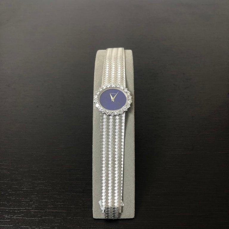 Women's Cartier by Piaget Lapis Lazuli and Diamond Ladies Wristwatch For Sale