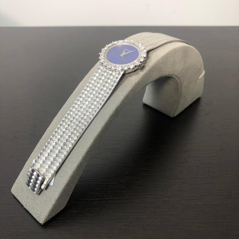 Cartier by Piaget Lapis Lazuli and Diamond Ladies Wristwatch For Sale 2