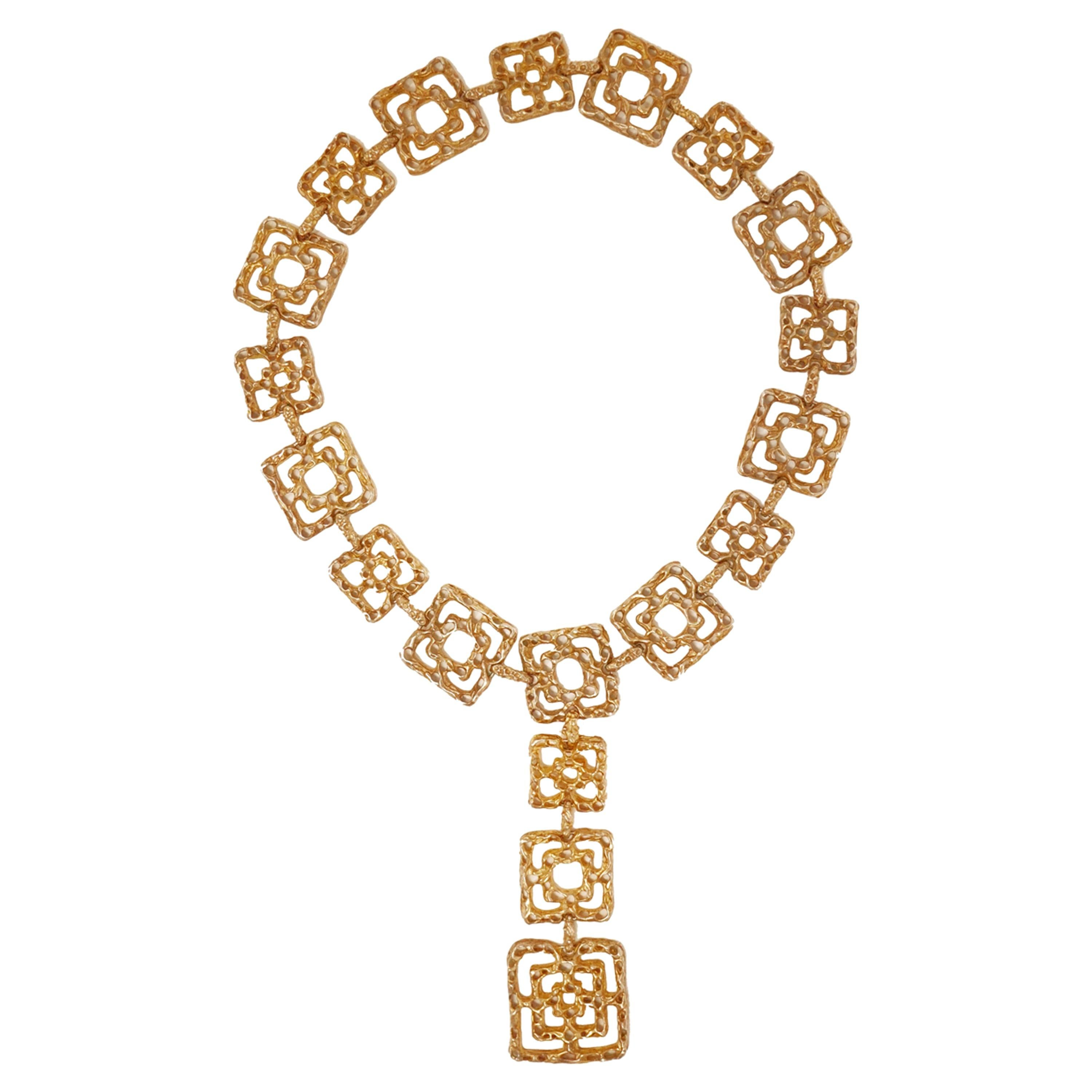"""Cartier """"Byzantine"""" Belt or Necklace in Gold Vermeil, Signed, circa 1970"""