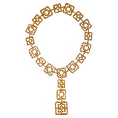 "Cartier ""Byzantine"" Belt or Necklace in Gold Vermeil, Signed, circa 1970"