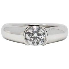 Cartier C de Cartier .53 Round Diamond Solitaire Platinum Engagement Ring