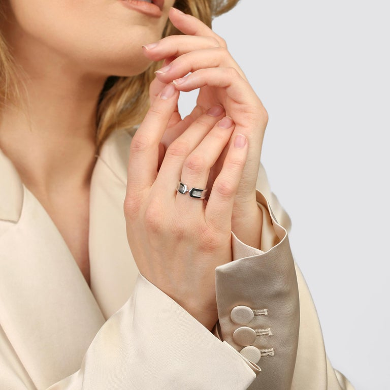 Women's or Men's Cartier C de Cartier Band Ring For Sale