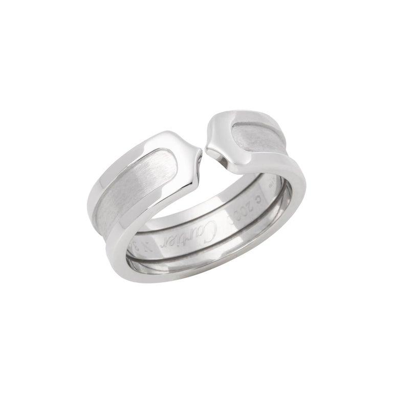 Cartier C de Cartier Band Ring For Sale