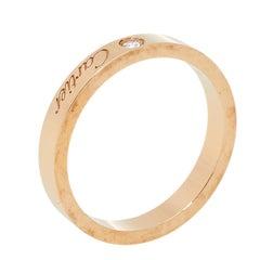 Cartier C de Cartier Diamond 18K Rose Gold Wedding Band Ring Size 54