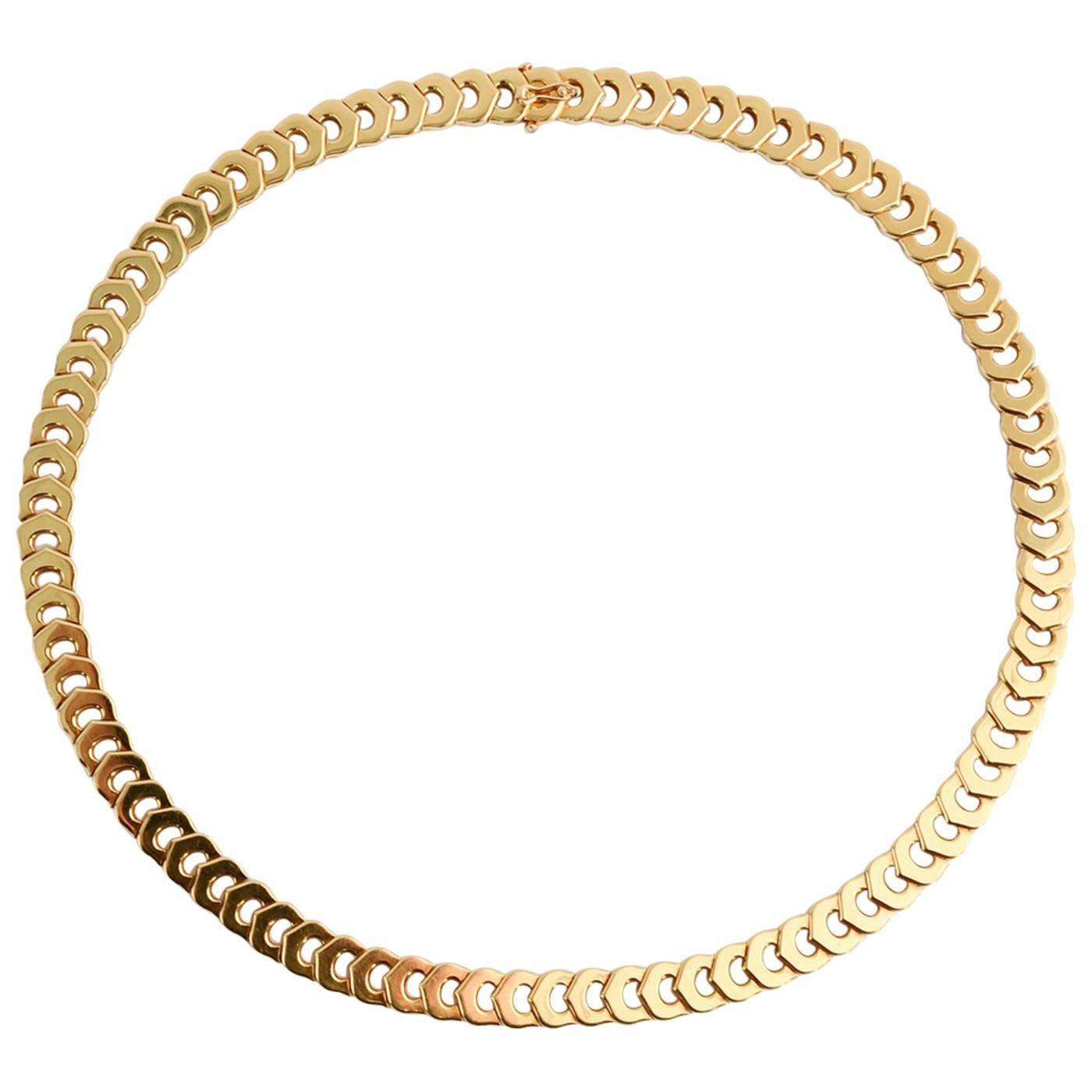 Cartier C de Cartier Gold Choker Necklace