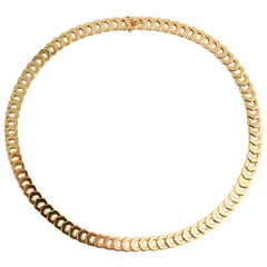 Cartier C de Cartier Gold Choker Necklace