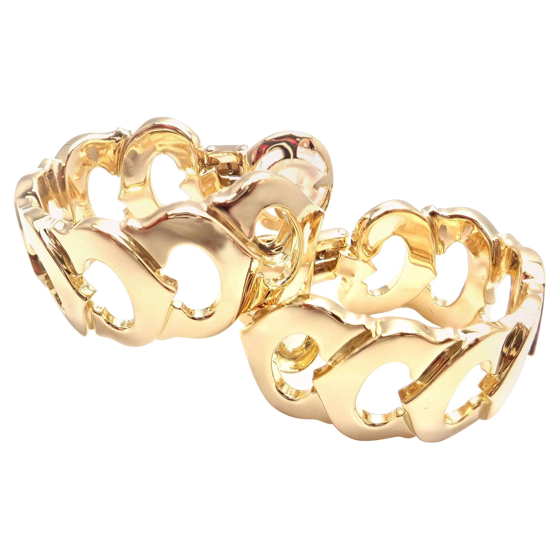 Cartier C De Cartier Large Hoop Yellow Gold Earrings