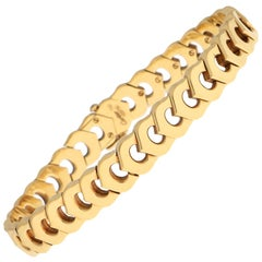 Cartier 'C de Cartier' Link Bracelet in Solid 18 Karat Yellow Gold