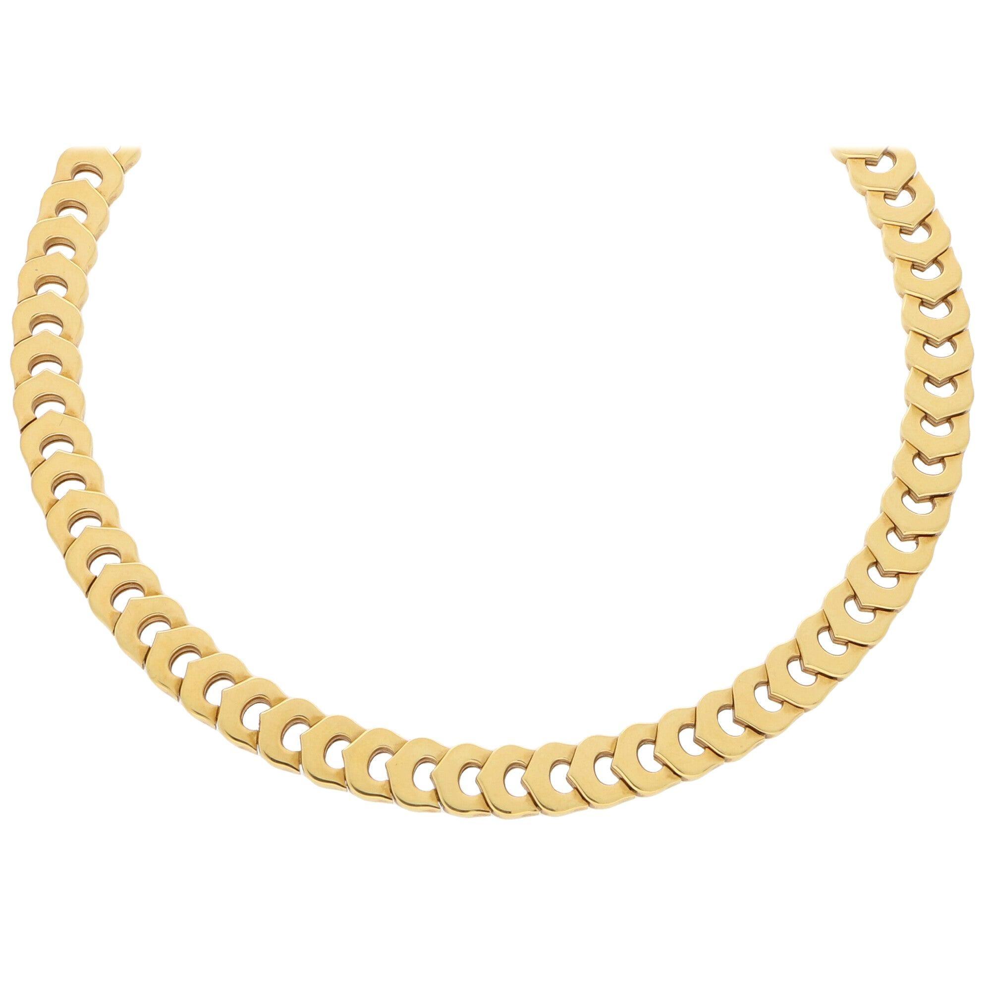 Cartier C de Cartier Necklace Set in Solid 18 Karat Yellow Gold