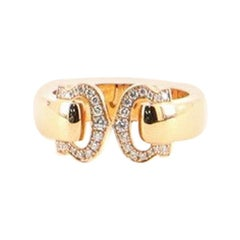 Cartier C de Cartier Ring 18 Karat Rose Gold and Diamonds