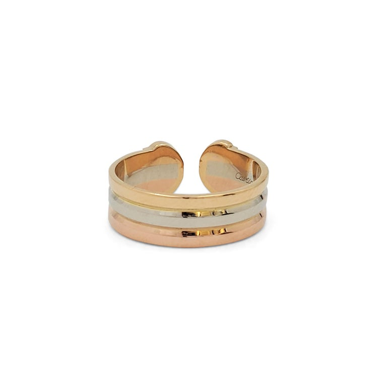Cartier 'C De Cartier' Tri-Colored Gold Ring For Sale 1
