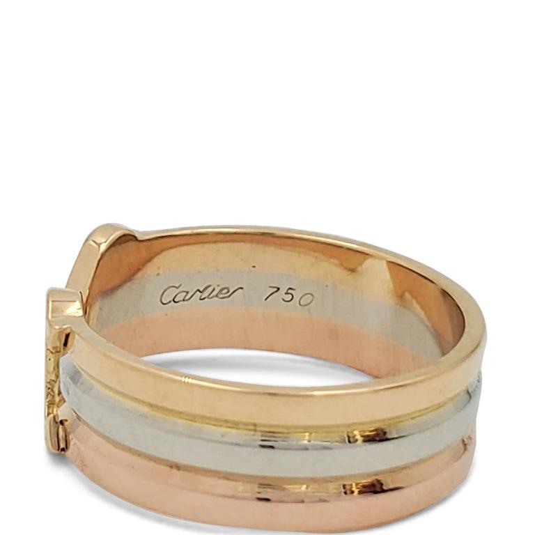 Cartier 'C De Cartier' Tri-Colored Gold Ring For Sale 2