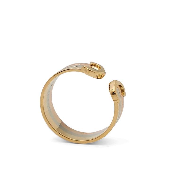 Cartier 'C De Cartier' Tri-Colored Gold Ring For Sale 3