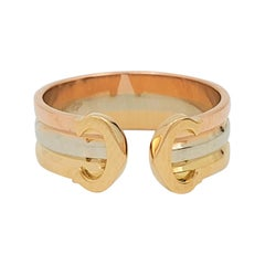 Cartier 'C De Cartier' Tri-Colored Gold Ring
