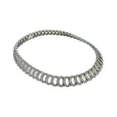 Cartier 'C De Cartier' White Gold 20 Carat Diamond Choker Cocktail Necklace