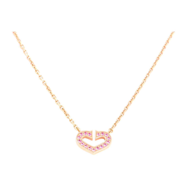 Cartier C Heart De Cartier 18K Rose Gold Necklace