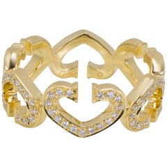 Cartier C Hearts of Cartier Diamond Ring in 18 Karat Yellow Gold '0.50 Carat'