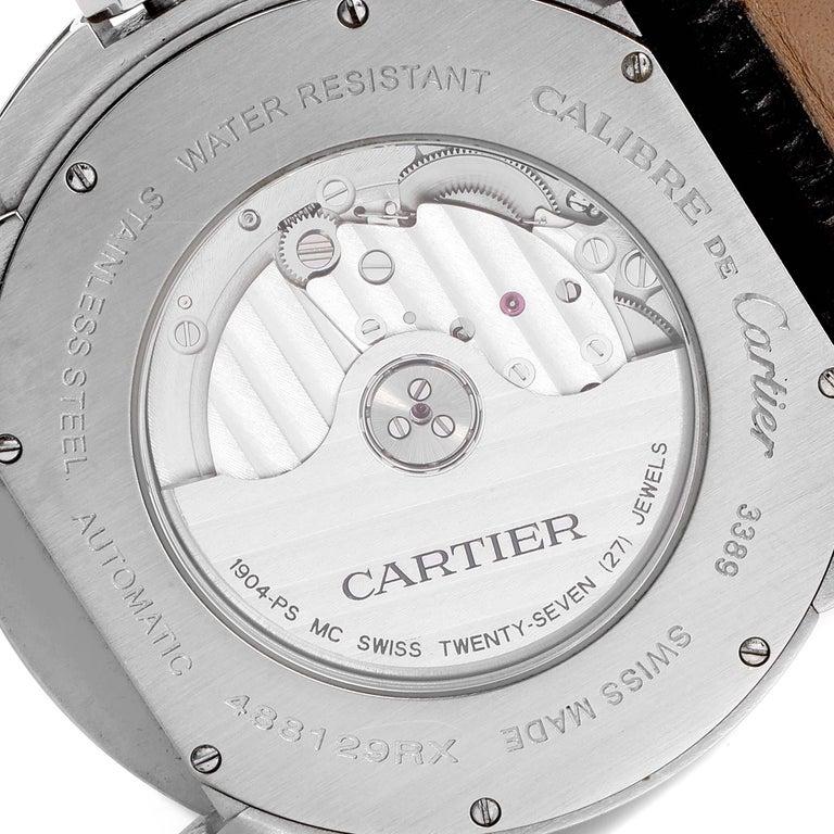 Cartier Calibre Black Dial Automatic Steel Men's Watch W7100041 For Sale 3