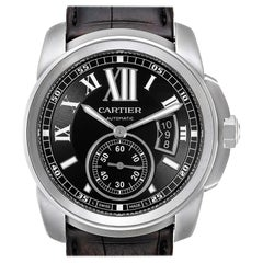 Cartier Calibre Black Dial Automatic Steel Men's Watch W7100041