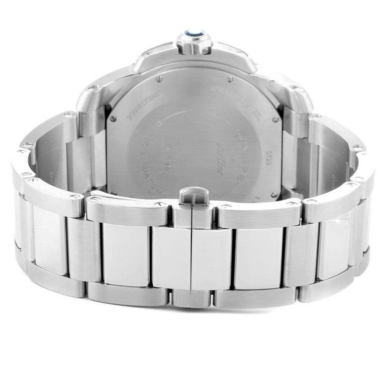 Cartier Calibre Black Dial Automatic Steel Men's Watch W7100057 Box Card For Sale 4