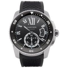 Cartier Calibre de Cartier 0 3729 or W7100056 Men's Stainless Steel Diver Watch
