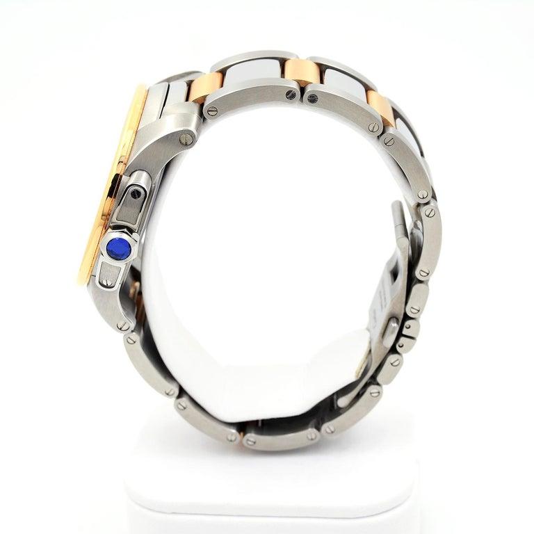 Cartier Calibre de Cartier 18 Karat Pink Gold & Stainless Steel Watch For Sale 1