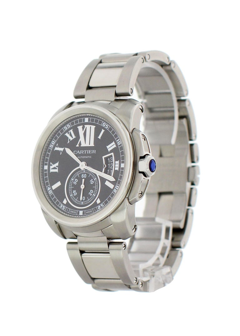 baf795e2be1 Cartier Calibre De Cartier 3389   W7100016 Men s Watch. 42 mm stainless  steel case with