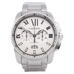 Cartier Calibre de Cartier Chronograph W7100045 or 3578 Men's Stainless Steel