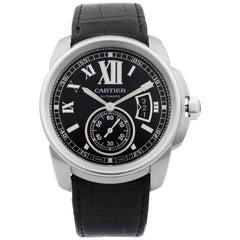 Cartier Calibre De Cartier Steel Black Dial Date Automatic Men's Watch W7100041