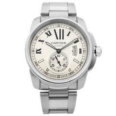 Cartier Calibre de Cartier Steel Silver Dial Automatic Men's Watch W7100015