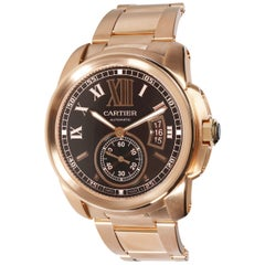 Cartier Calibre de Cartier W7100040 Men's Watch in 18 Karat Rose Gold