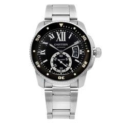 Cartier Calibre de Diver Stainless Steel Black Dial Automatic Men Watch W7100057
