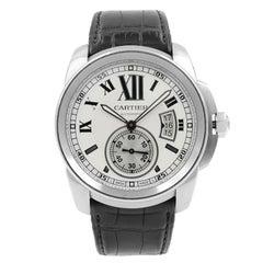 Cartier Calibre De W7100037 Silver Roman Dial Steel Automatic Men's Watch