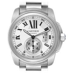 Cartier Calibre Silver Dial Steel Automatic Men's Watch W7100015