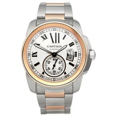 Cartier Calibre Stainless Steel and Rose Gold W7100036 or 3389