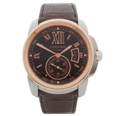 Cartier Calibre Stainless Steel And Rose Gold W7100051 Wristwatch