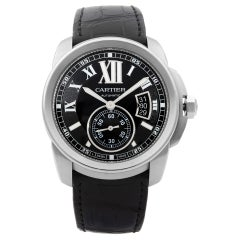 Cartier Calibre Stainless Steel Black Dial Automatic Men's Watch W7100037