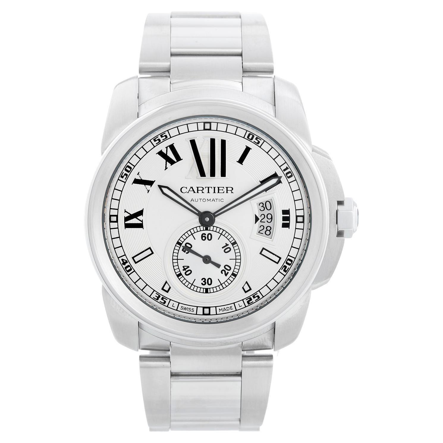 Cartier Calibre Stainless Steel Men's Watch W7100015