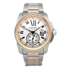 Cartier Calibre Stainless Steel and Rose Gold 3389