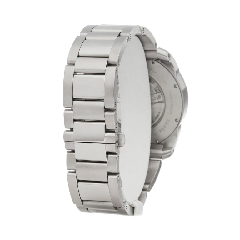 Cartier Calibre Stainless Steel W7100037 or 3398 For Sale 1