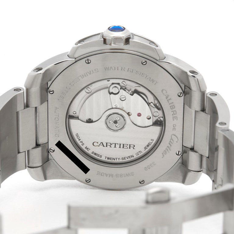 Cartier Calibre Stainless Steel W7100037 or 3398 For Sale 2