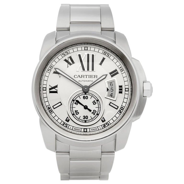 Cartier Calibre Stainless Steel W7100037 or 3398 For Sale