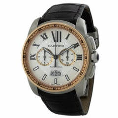 Cartier Calibre W7100043 42Mm Steel & 18K Rose Gold Case Automatic Chronograph W