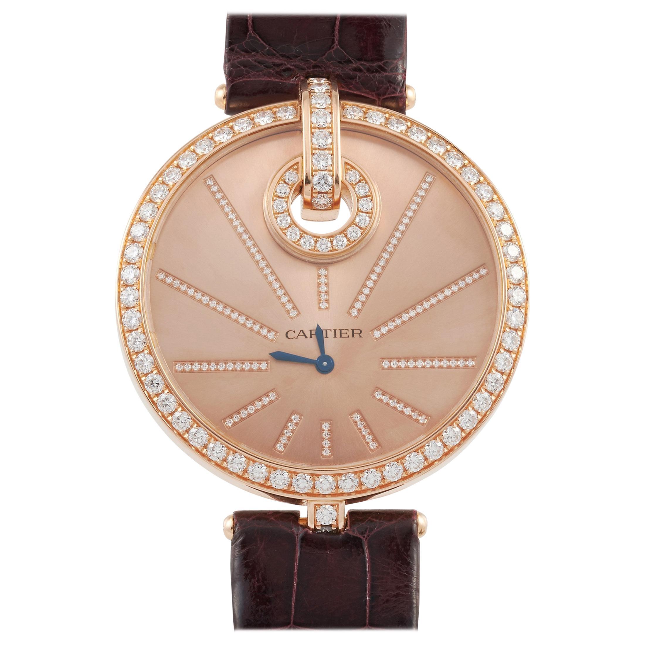 Cartier Captive de Cartier 18 Karat Rose Gold Diamond Bezel Watch WG600003