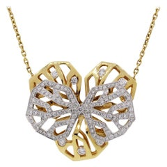 Cartier Caresse D'orchidees 18 Karat Two-Tone Gold Necklace