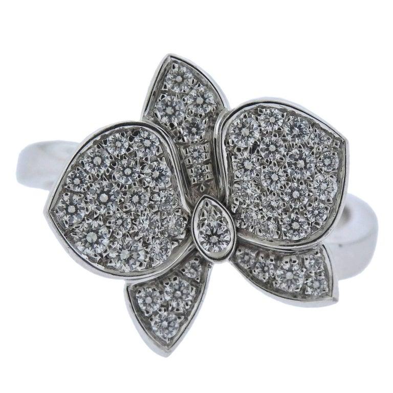 44358e7b76069 Cartier Caresse d'Orchidees Diamond Gold Ring