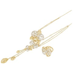 Cartier Caresse d'Orchidees Necklace and Ring Suite