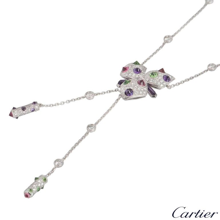 Cartier Caresse d'Orchidées Necklace In Excellent Condition For Sale In London, GB