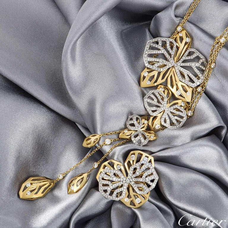 Cartier Caresse d'Orchidees Necklace and Ring Suite For Sale 1